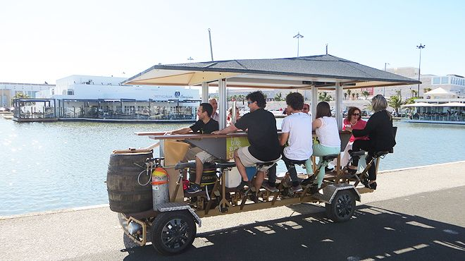 lisbon beer bikes